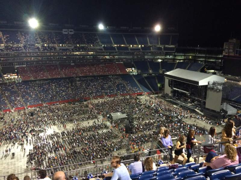 Seating view for Gillette Stadium Section 335 Row 15 Seat 8