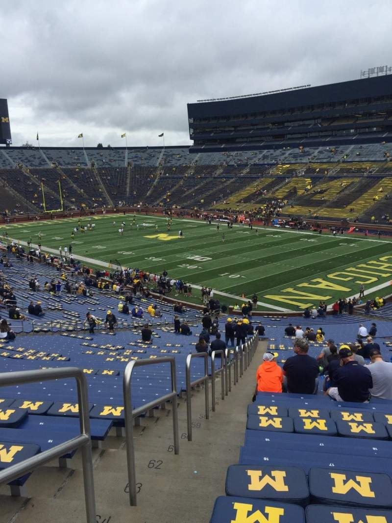 Seating view for Michigan Stadium Section 17 Row 67 Seat 17