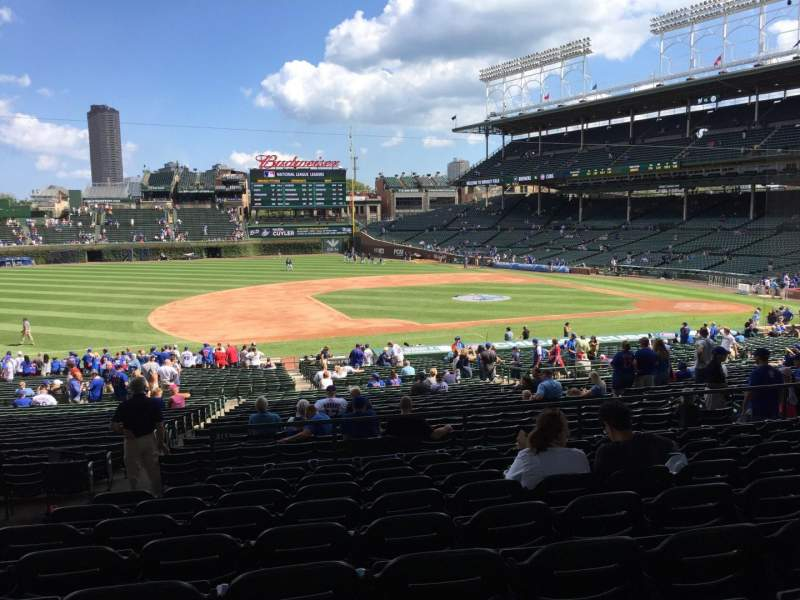 Seating view for Wrigley Field Section 211 Row 9 Seat 4
