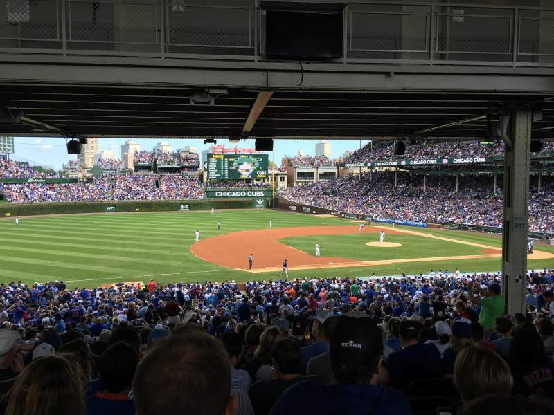 Seating view for Wrigley Field Section 109 Row 18 Seat 8