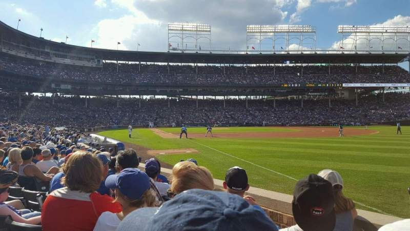 Seating view for Wrigley Field Section 38 Row 10 Seat 10