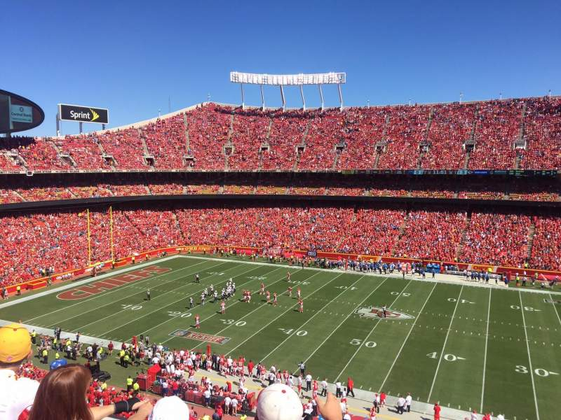 Seating view for Arrowhead Stadium Section 323 Row 3 Seat 5