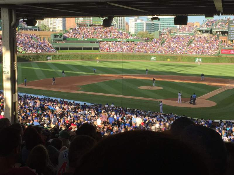 Seating view for Wrigley Field Section 219 Row 20 Seat 108