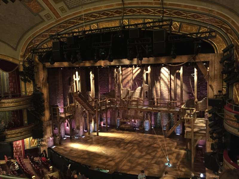 Seating view for Richard Rodgers Theatre Section Front mezzanine Row C Seat 10