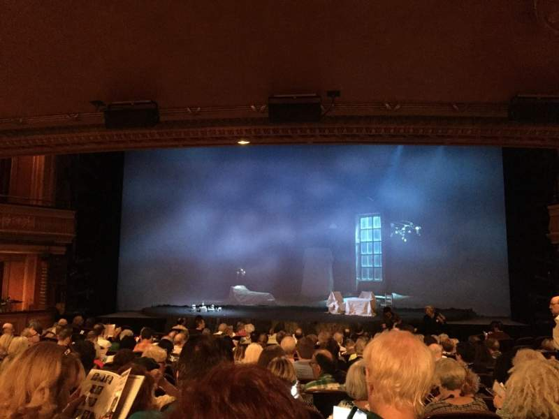Seating view for American Airlines Theatre Section Orch Row O Seat 106