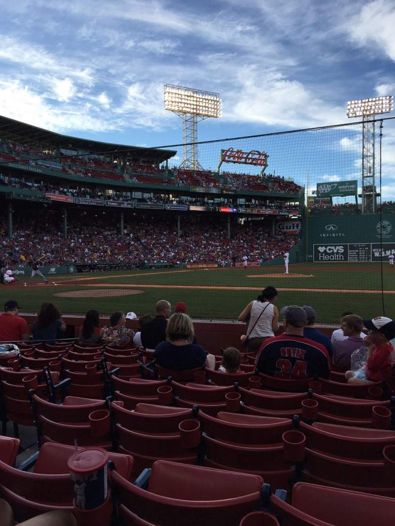 Seating view for Fenway Park Section Field Box 29 Row G Seat 2