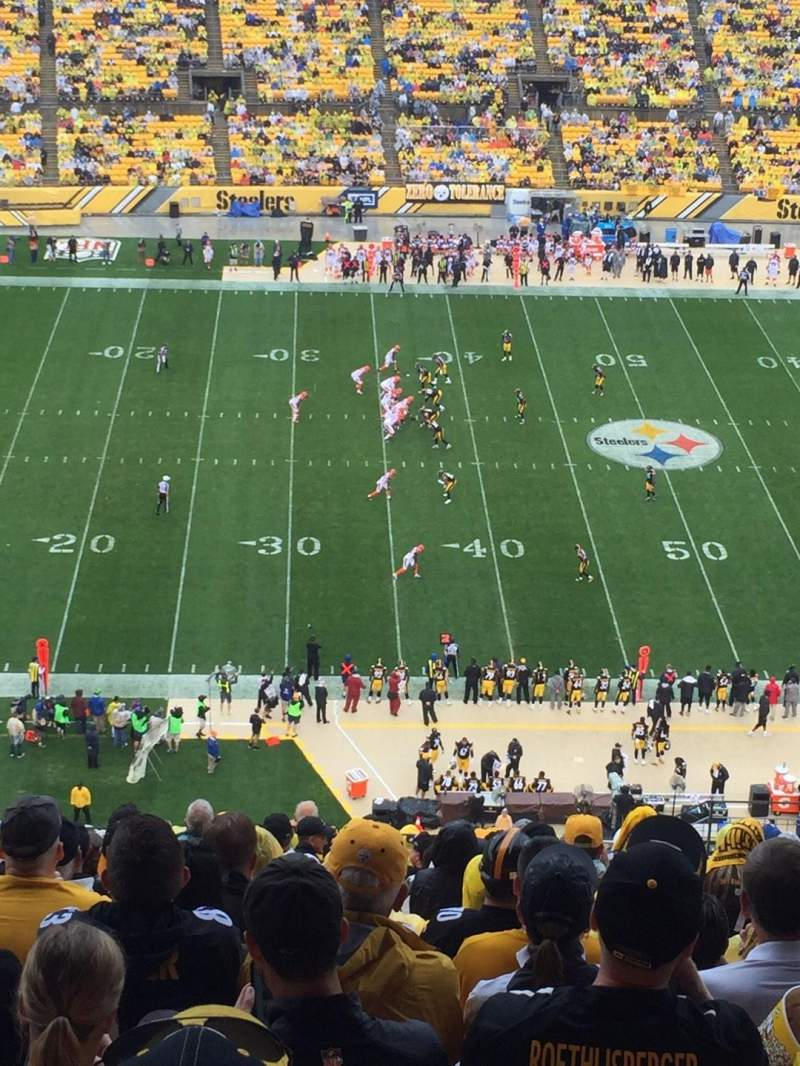 Seating view for Heinz Field Section 533 Row X Seat 7