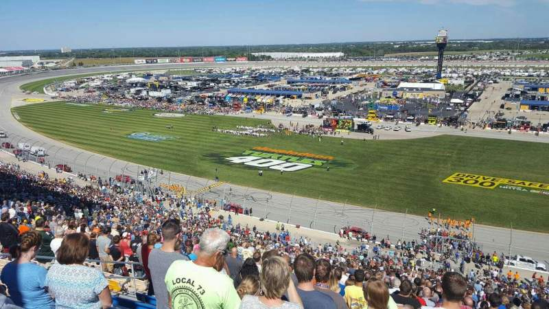 Seating view for Chicagoland Speedway Section 107 Row 64 Seat 8