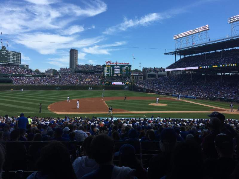 Seating view for Wrigley Field Section 113 Row 4 Seat 104