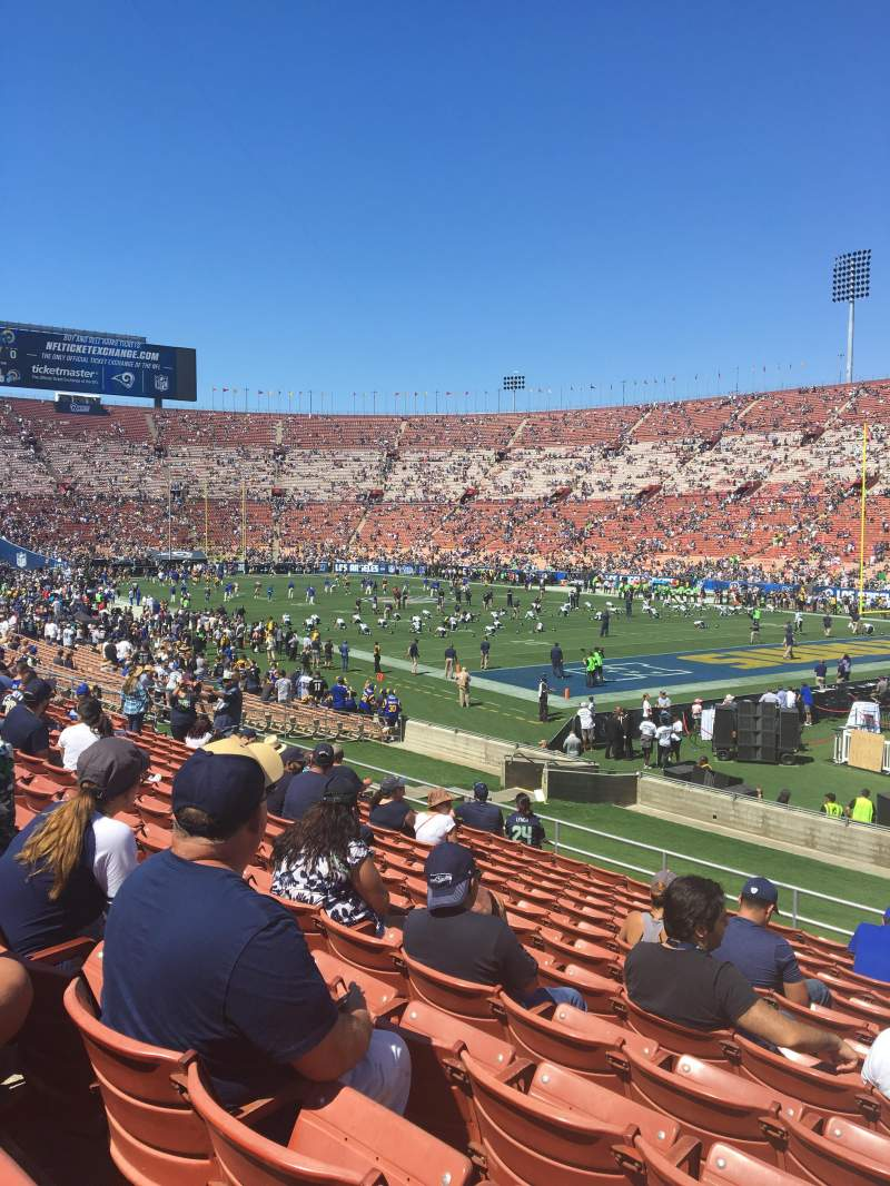 Seating view for Los Angeles Memorial Coliseum Section 2L Row 27 Seat 2