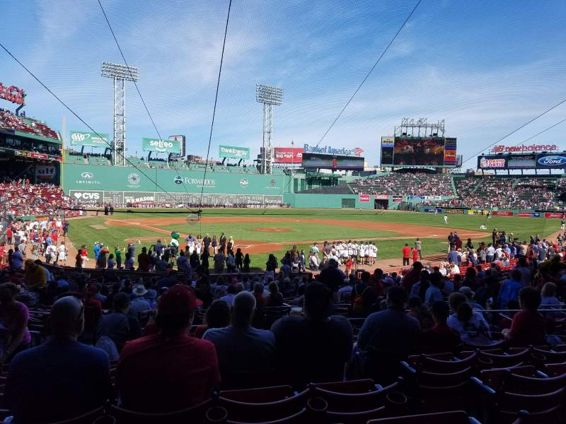 Seating view for Fenway Park Section Loge Box 128 Row JJ Seat 3