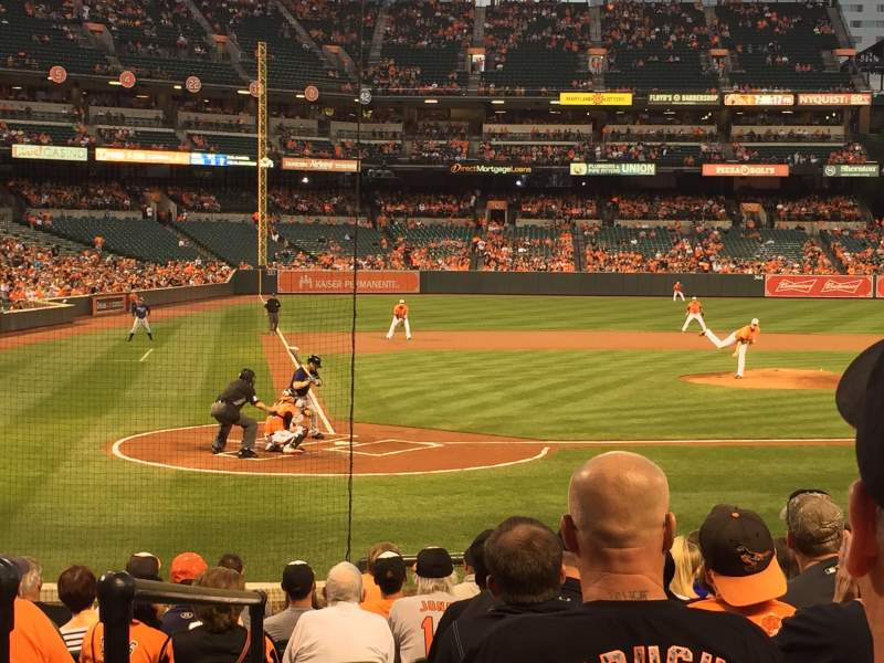 Seating view for Oriole Park at Camden Yards Section 28 Row 13 Seat 7