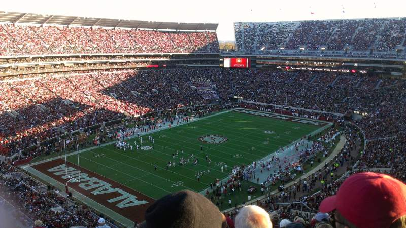 Bryant-Denny Stadium, section: U3-R, row: 16