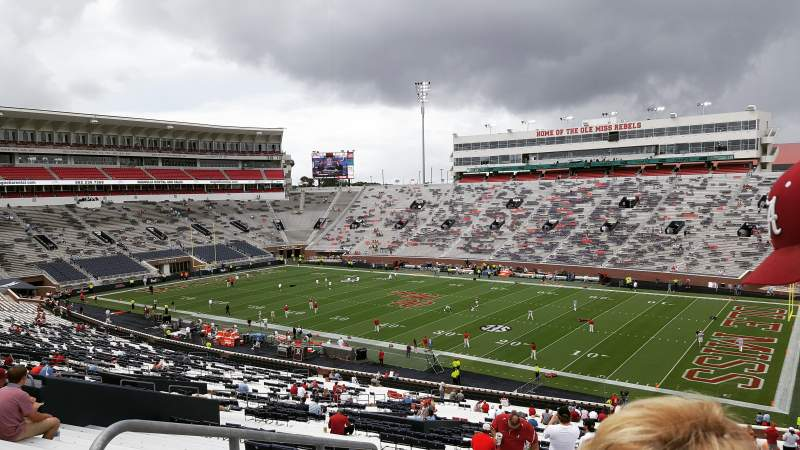 Seating view for Vaught-Hemingway Stadium Section K Row 60 Seat 32