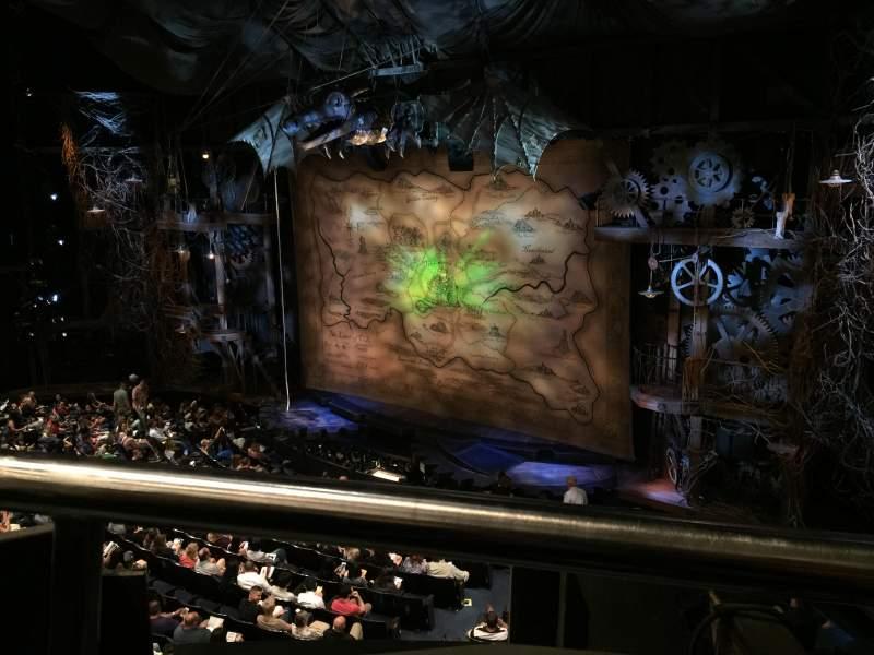 Gershwin Theatre, section: Front Mezzanine R, row: EE, seat: 4