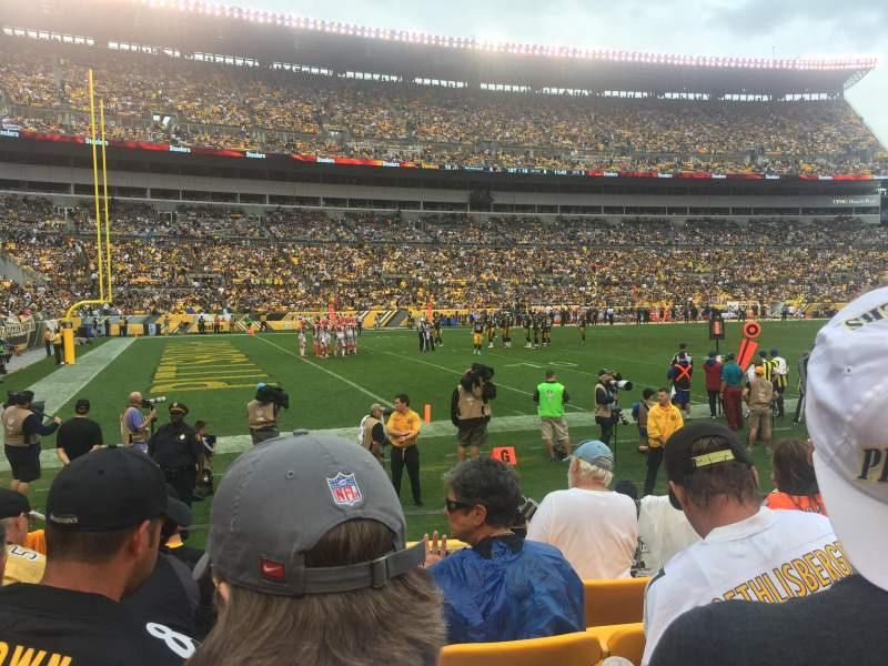 Seating view for Heinz Field Section 130 Row E Seat 8