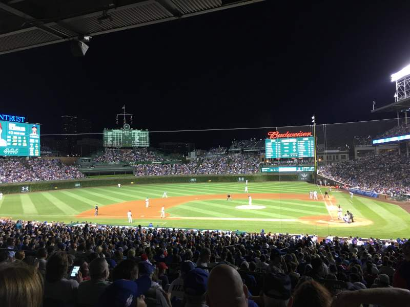 Seating view for Wrigley Field Section 216 Row 8 Seat 101