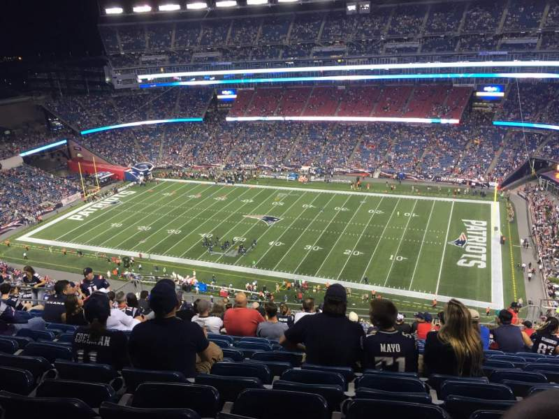 Seating view for Gillette Stadium Section 328 Row 22 Seat 9