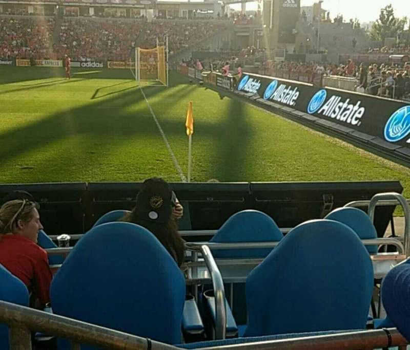 Seating view for BMO Field Section 104 Row 2 Seat 11