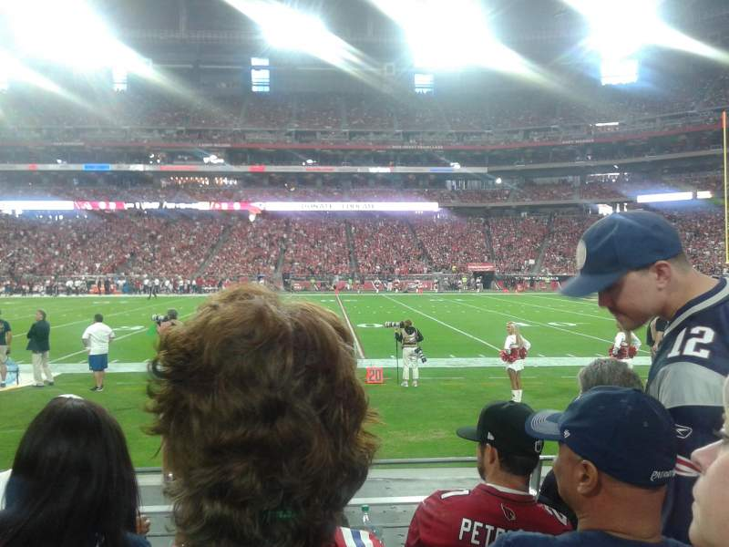 Seating view for University of Phoenix Stadium Section 127 Row 4 Seat 7