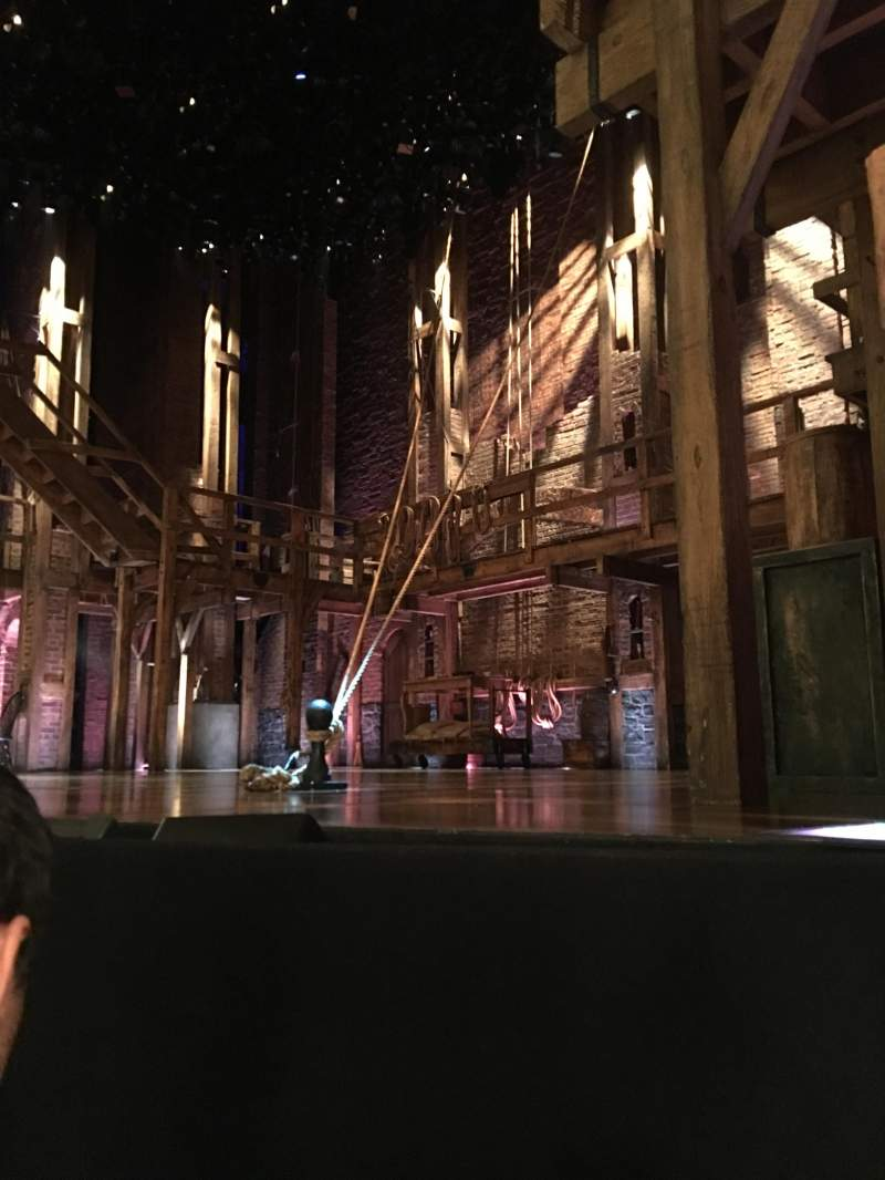 Seating view for Richard Rodgers Theatre Section Side orchestra Row A Seat 12
