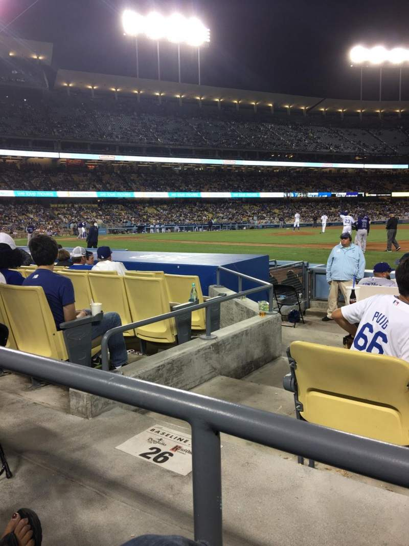 Seating view for Dodger Stadium Section 26FD Row A Seat 6