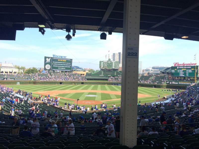 Seating view for Wrigley Field Section 222 Row 12 Seat 104