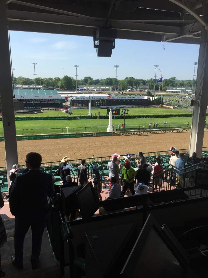 Seating view for Churchill Downs Section 317 Row H Seat 1