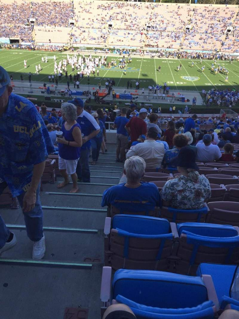 Seating view for Rose Bowl Section 19-H Row 55 Seat 101
