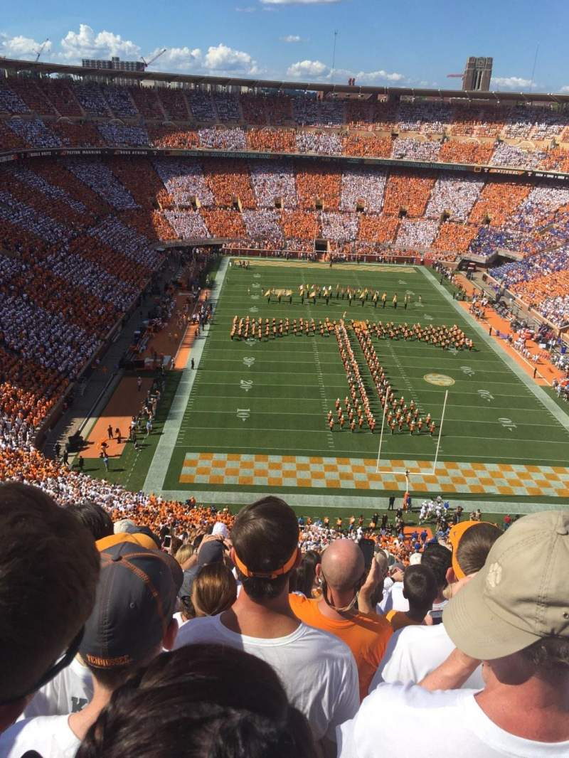 Seating view for Neyland Stadium Section MM Row 23 Seat 15