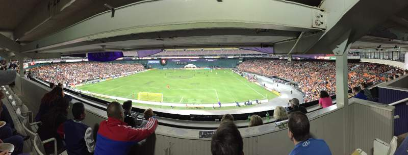 Seating view for RFK Stadium Section M22 Row 3 Seat 4