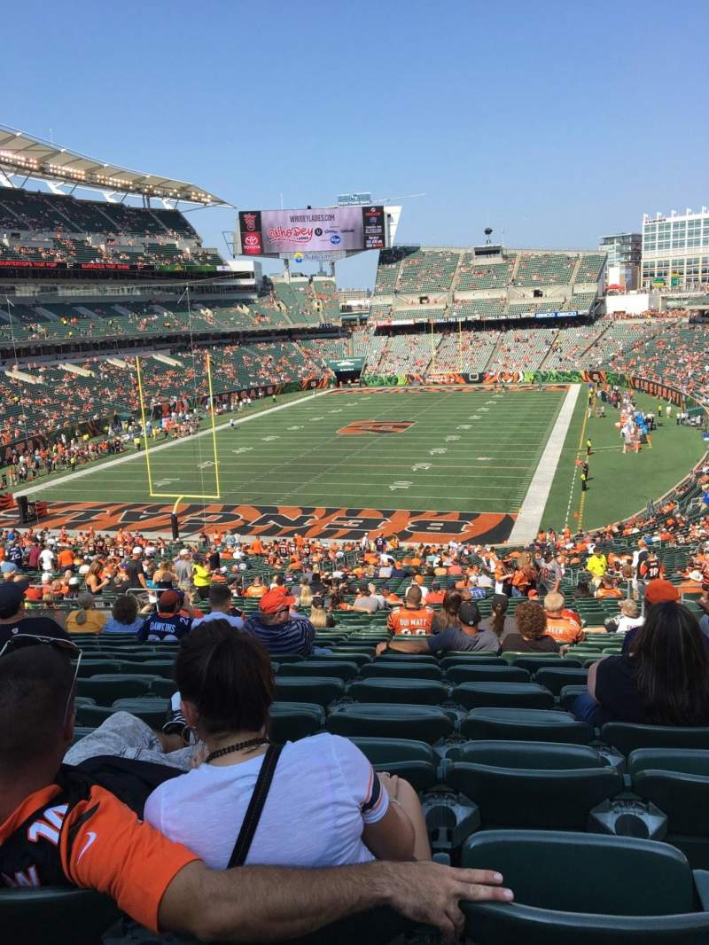 Seating view for Paul Brown Stadium Section 151 Row 55 Seat 10