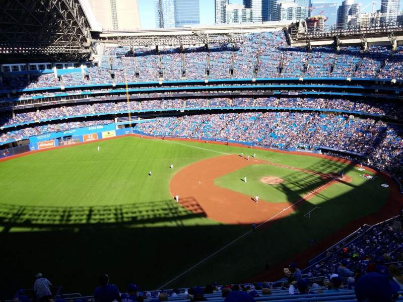 Seating view for Rogers Centre Section 535L Row 19 Seat 111