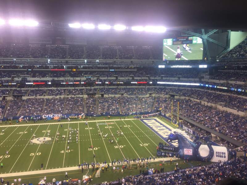 Seating view for Lucas Oil Stadium Section Upper level Suite 39