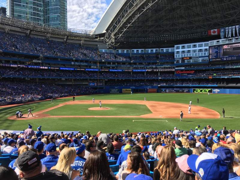 Seating view for Rogers Centre Section 117R Row 31 Seat 5