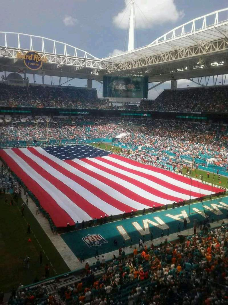 Seating view for Hard Rock Stadium Section 335 Row 1 Seat 15