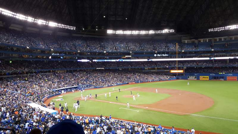 Seating view for Rogers Centre Section 216R Row 4 Seat 6