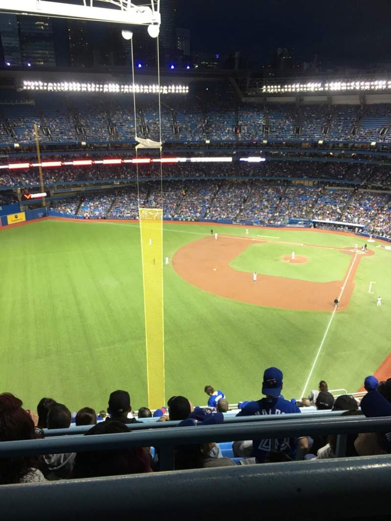 Seating view for Rogers Centre Section 539R Row 16 Seat 11