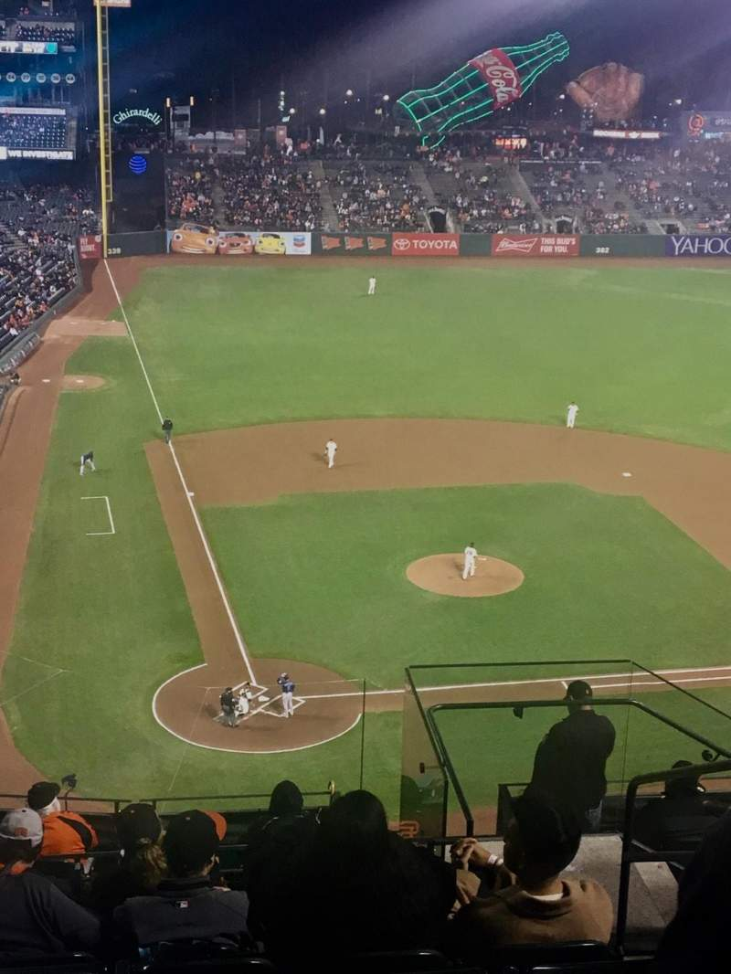Seating view for AT&T Park Section 312 Row 8 Seat 3