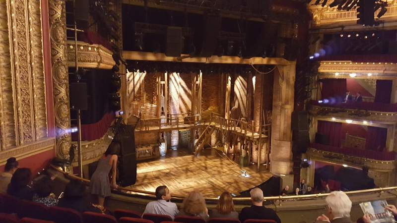 Seating view for PrivateBank Theatre Section Mezzanine Left Row F Seat 13