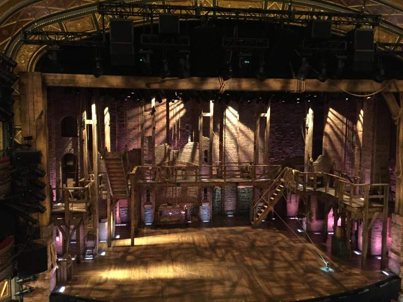 Seating view for Richard Rodgers Theatre Section Front Mezzanine Row A Seat 113