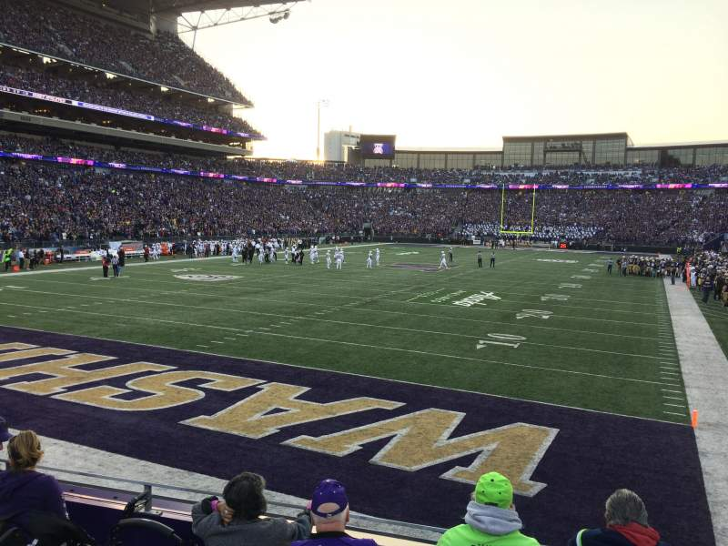 Seating view for Husky Stadium Section 135 Row 5 Seat 14