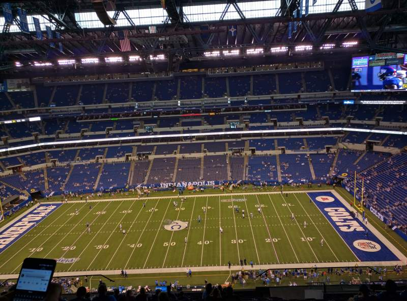 Seating view for Lucas Oil Stadium Section 612 Row 15 Seat 8,9,10