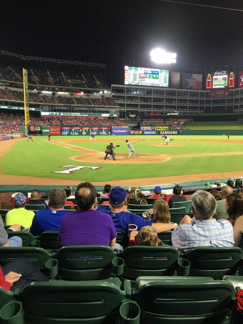 Seating view for Globe Life Park in Arlington Section 28 Row 6 Seat 6