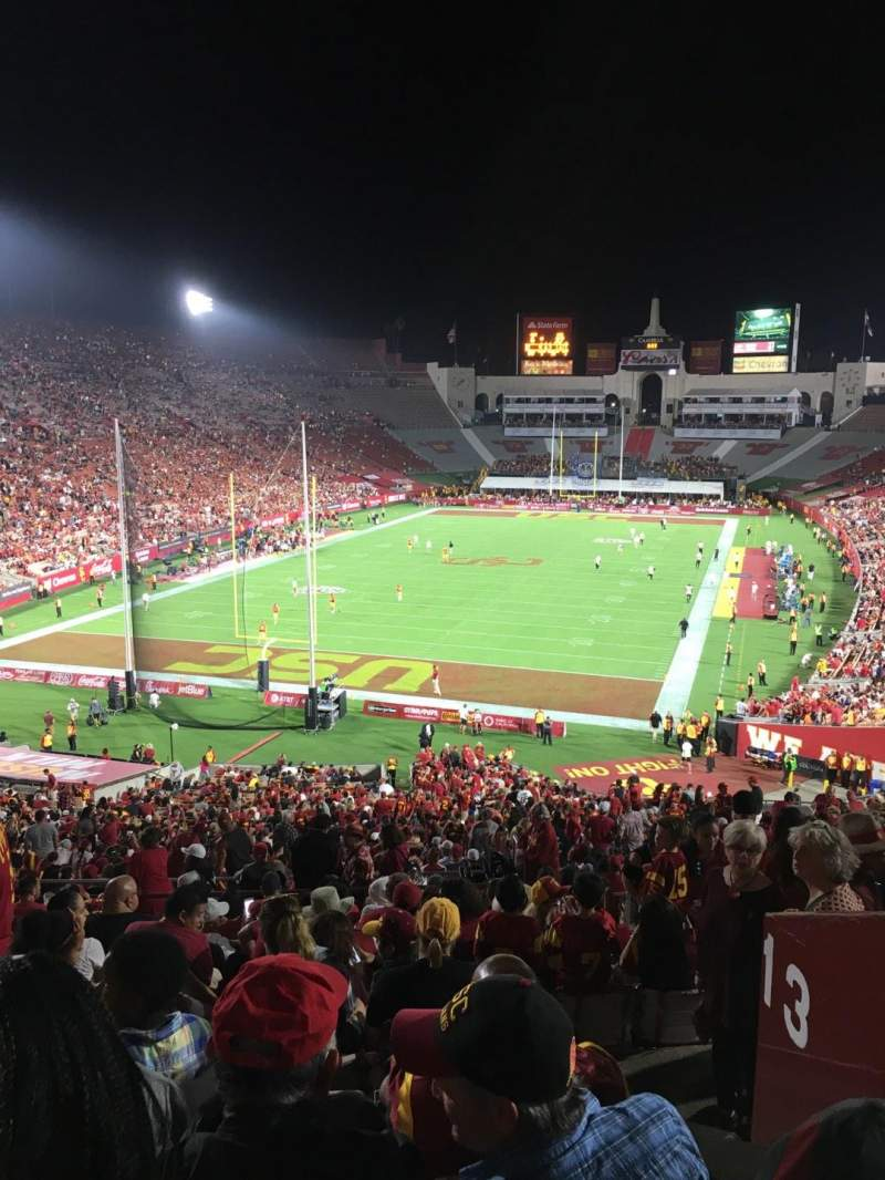 Seating view for Los Angeles Memorial Coliseum Section 13L Row 57 Seat 2