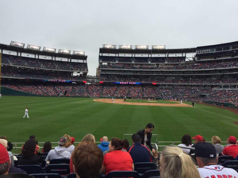 Seating view for Nationals Park Section 104 Row J Seat 3