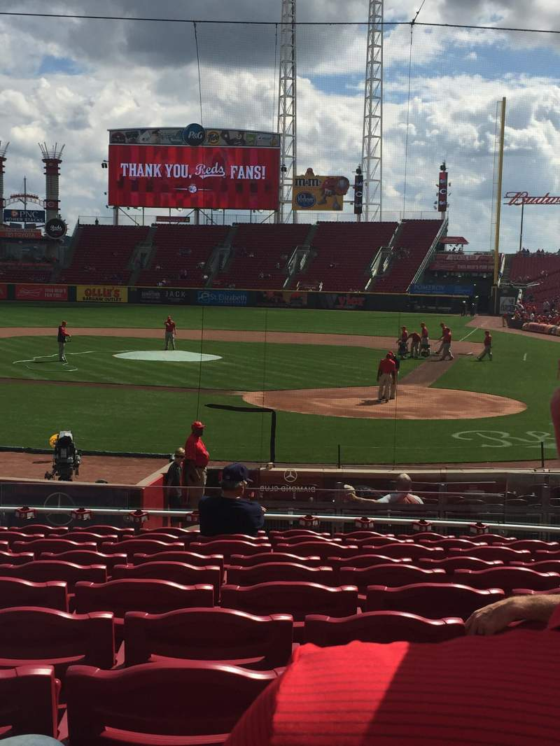 Seating view for Great American Ball Park Section 120 Row W Seat 6
