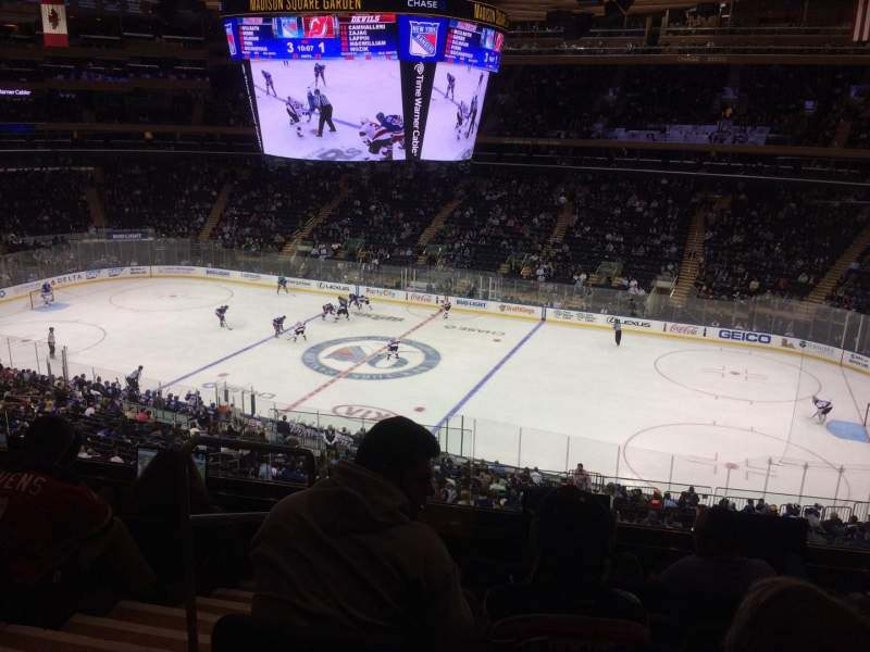 Seating view for Madison Square Garden Section 213 Row 5 Seat 3-4