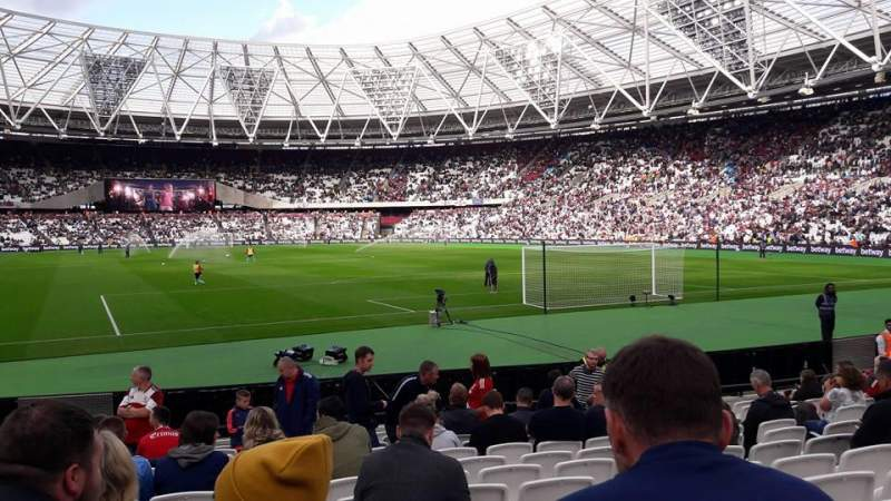 Seating view for London Stadium Section 118 Row 13 Seat 86