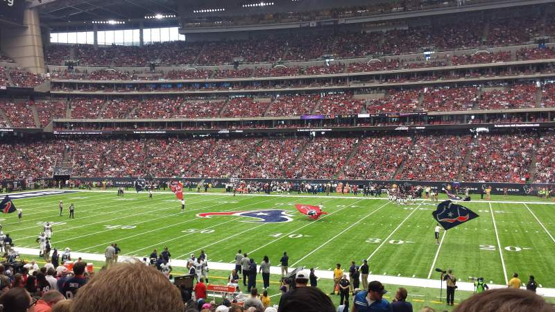 Seating view for NRG Stadium Section 124 Row Y Seat 23